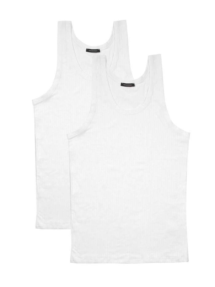 Schiesser Achselshirt im Doppelpack, Weiß