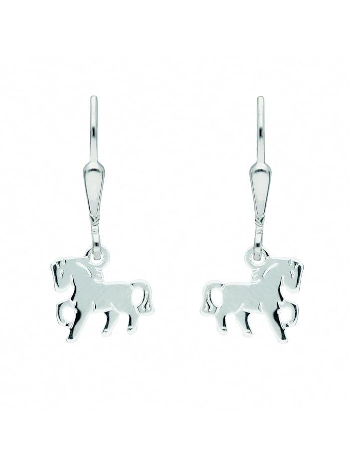 1001 Diamonds Damen Silberschmuck 925 Silber Ohrringe / Ohrhänger Tiermotive, silber