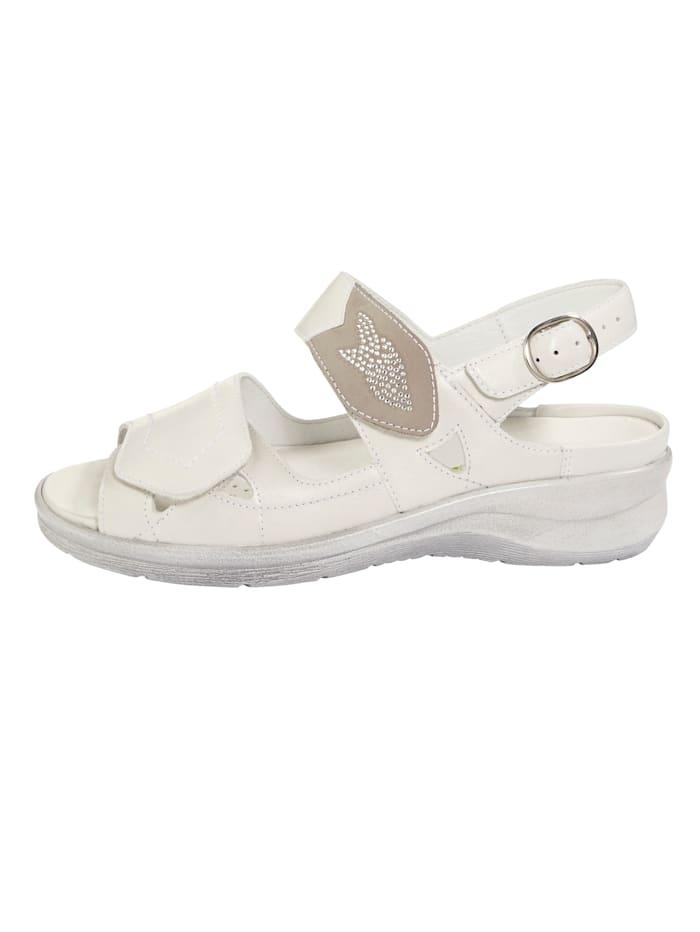 Sandale mit attraktiven Ziersteinchen