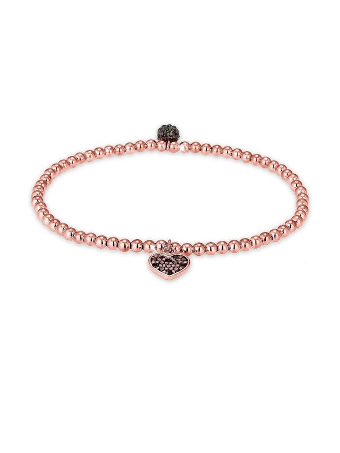 Elli Armband Herz Symbol Swarovski® Kristalle 925 Silber, Schwarz
