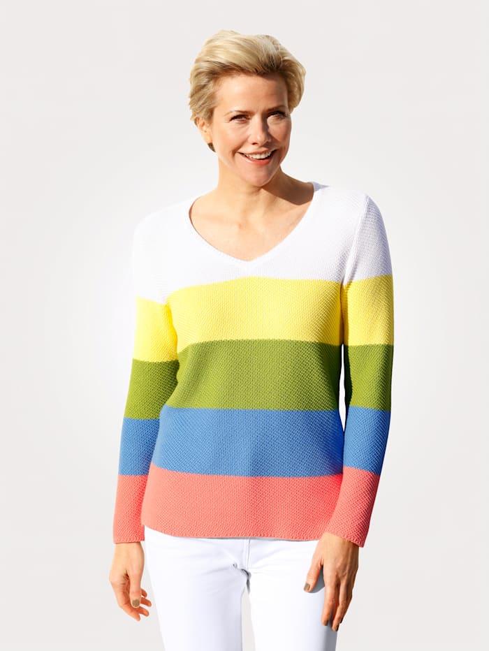 MONA Pullover aus Pima Baumwolle, Gelb/Grün/Blau/Pink