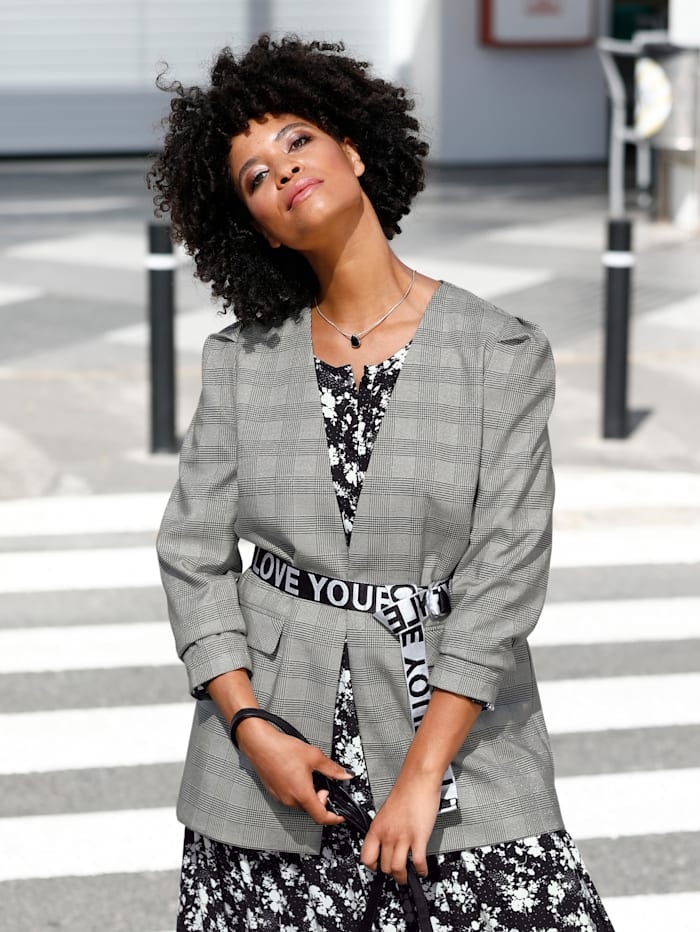 Angel of Style Riem, zwart/wit