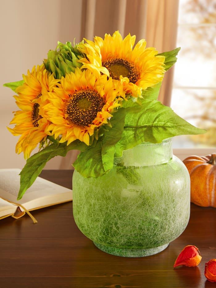 Globen Lighting Sonnenblumenstrauß in Vase, mehrfarbig
