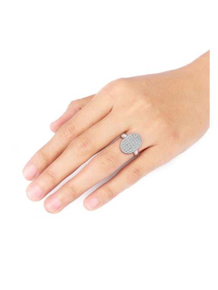 Ring Cocktailring Kristalle 925 Silber