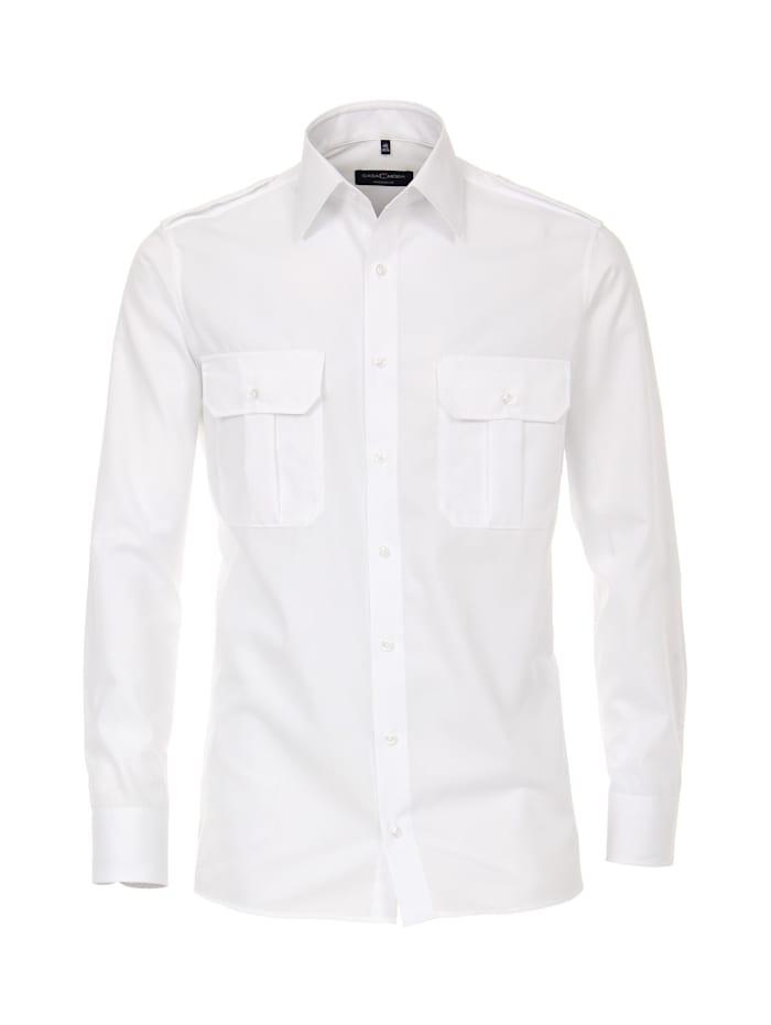 CASAMODA Hemd uni Modern Fit, Weiß