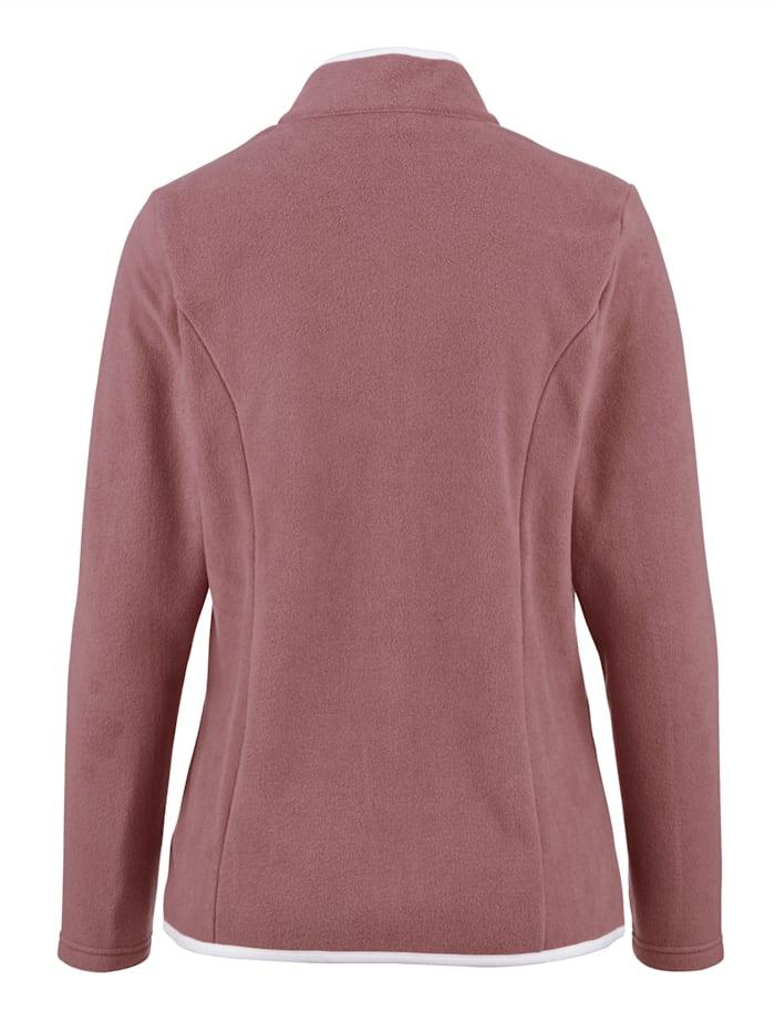Fleece vest met contrastkleurige paspels