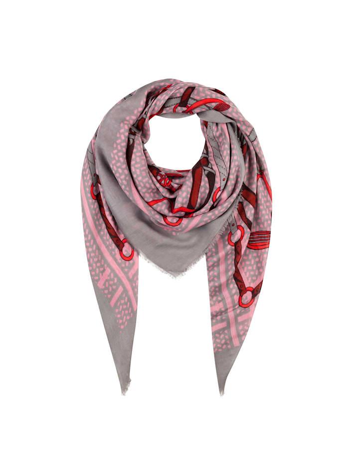 Codello XL-Tuch aus Modal mit klassischem Foulard-Print, dark rose