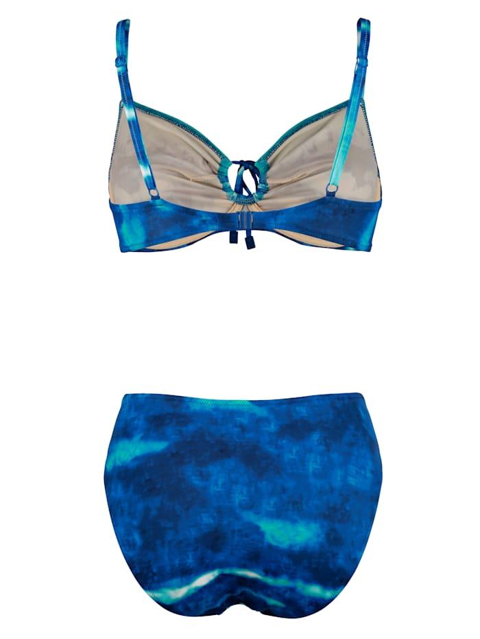 Bikini in aquakleuren