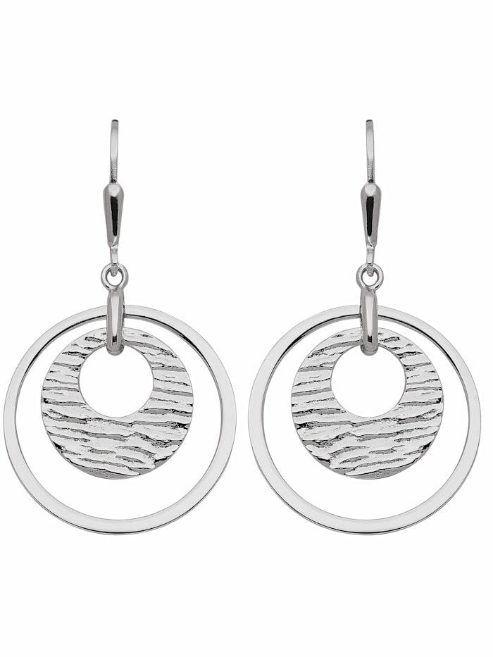 1001 Diamonds 1001 Diamonds Damen Silberschmuck 925 Silber Ohrringe / Ohrhänger Ø 23,2 mm, silber