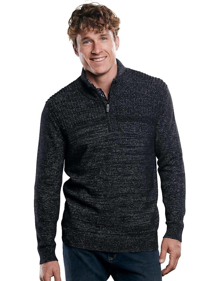 Engbers Pullover mit Stehkragen, Schwarz