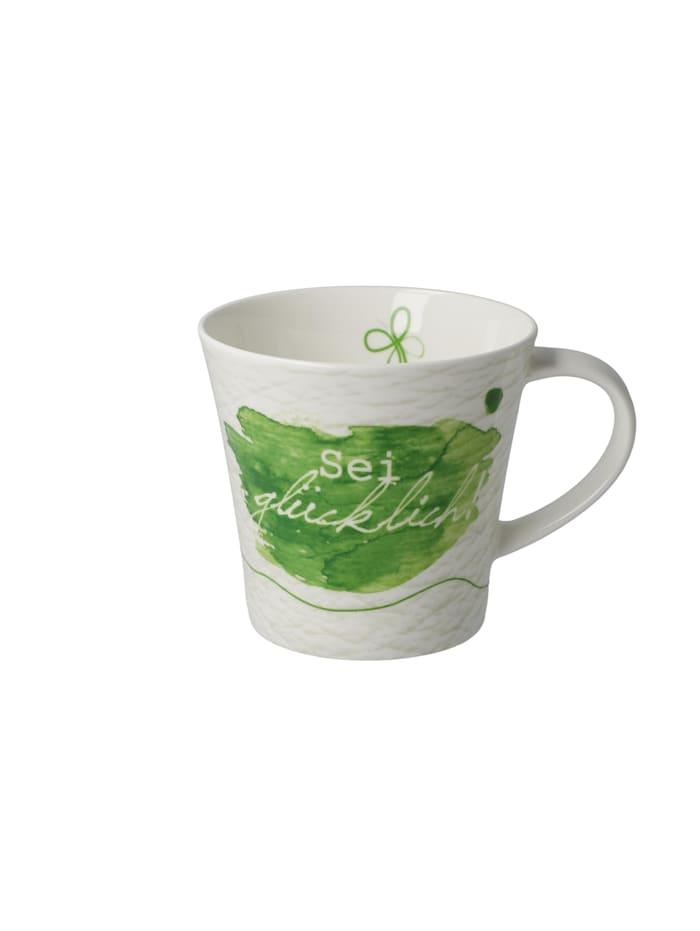 Goebel Goebel Coffee-/Tea Mug Sei glücklich, Bunt
