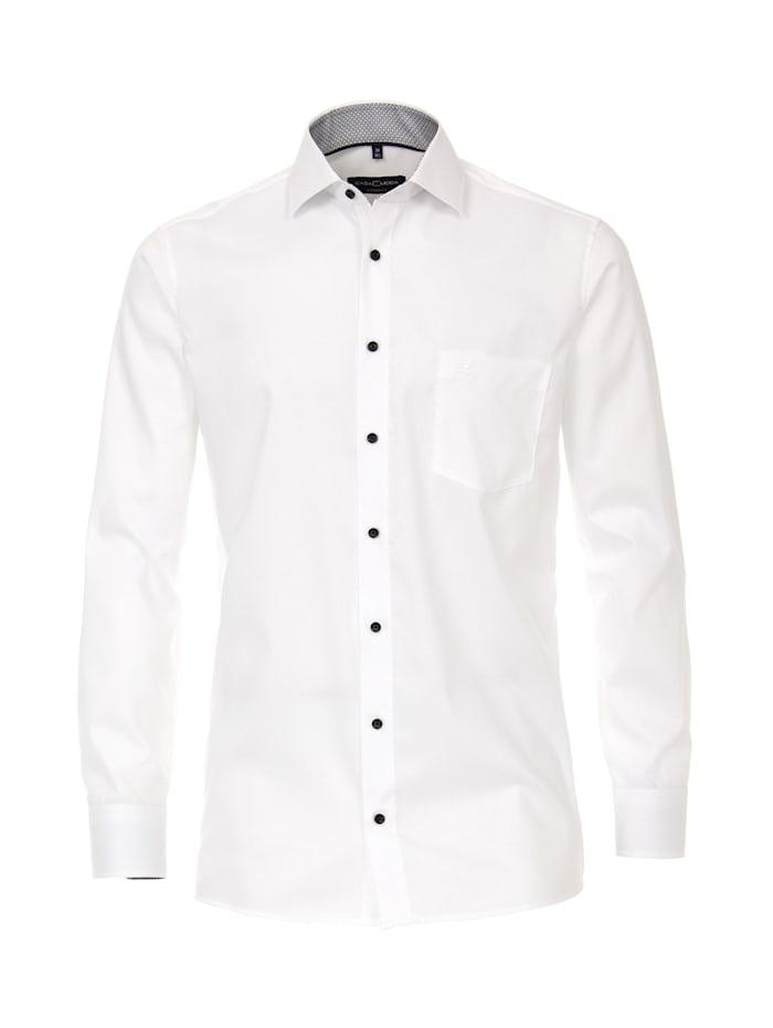 CASAMODA Hemd uni Modern Fit, Schneeweiß