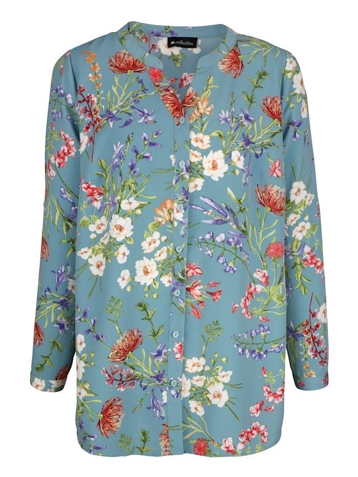 Bluse in floralem Druckdessin