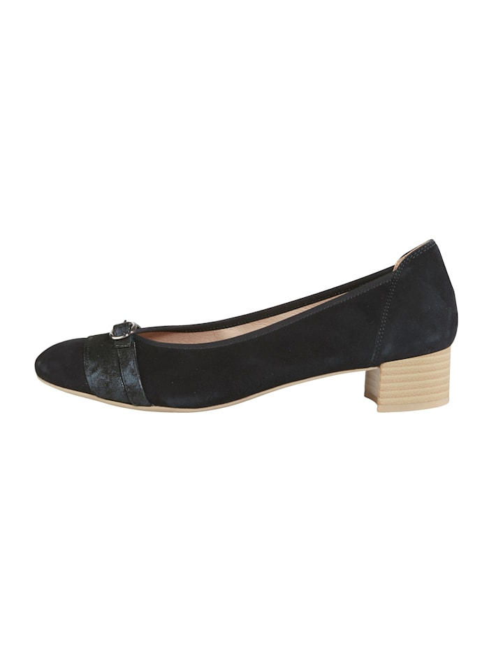 Court shoes with buckle detail