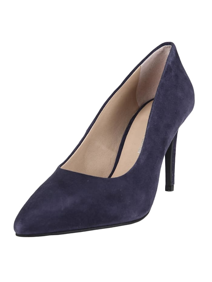 COX Pumps Velours-Pumps, blau