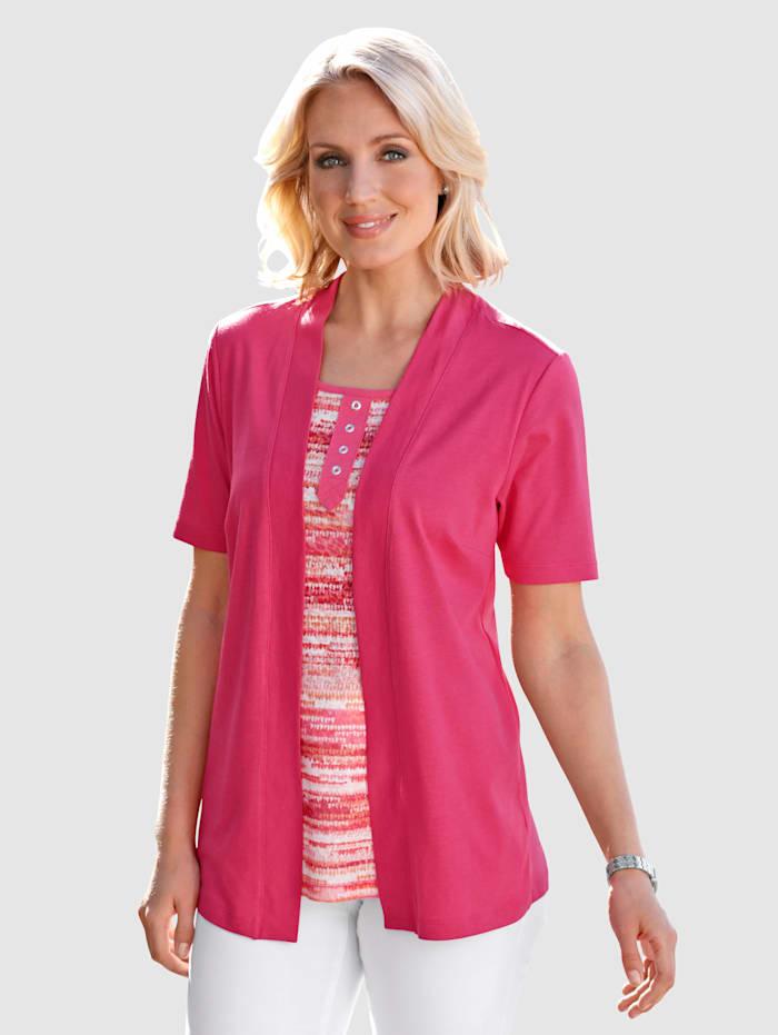 Tričko 2-v-1 s potlačou v žiarivých farbách