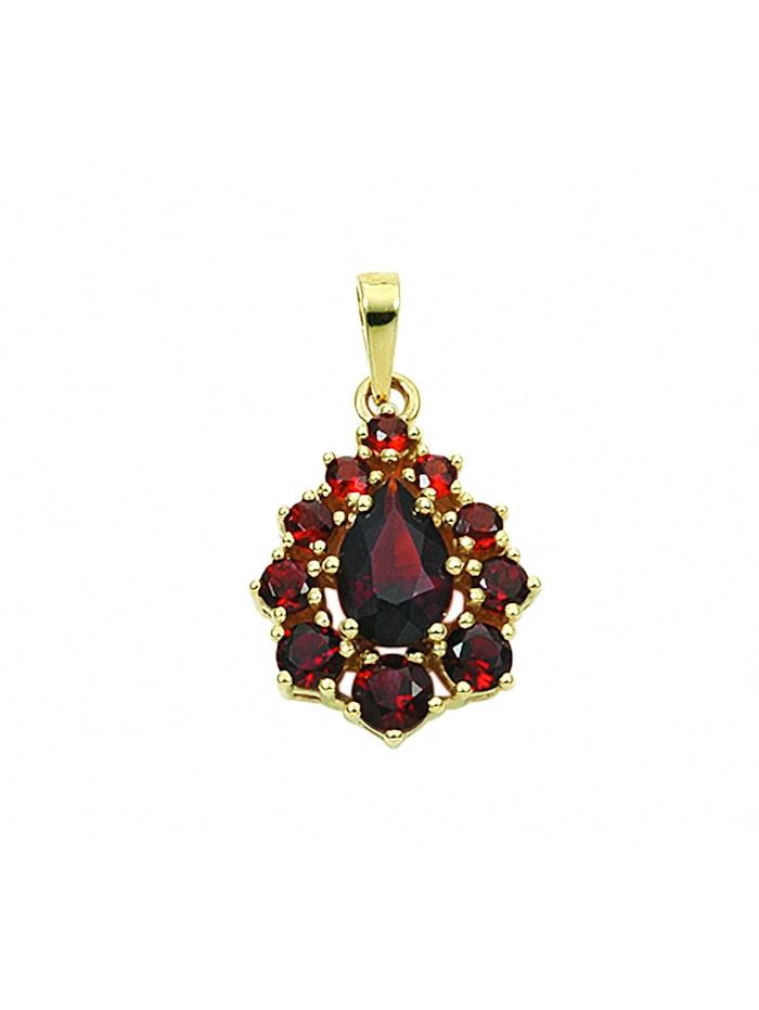 1001 Diamonds Damen Goldschmuck 333 Gold Anhänger mit Granat, rot