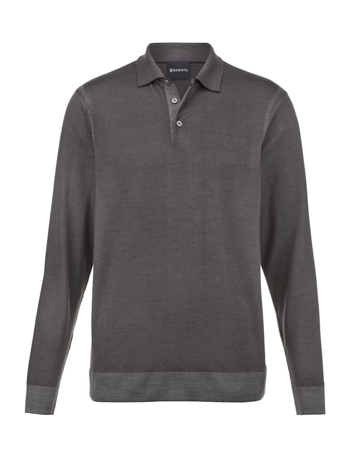 Babista Premium Pullover aus reiner Merinowolle, Anthrazit