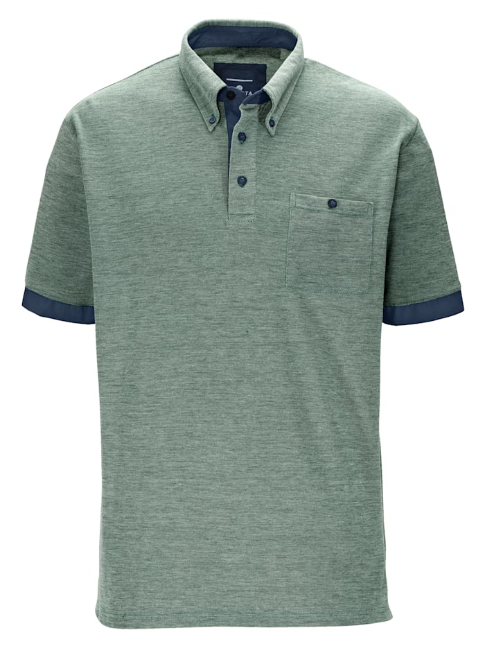 Poloshirt mit Button-Down-Kragen
