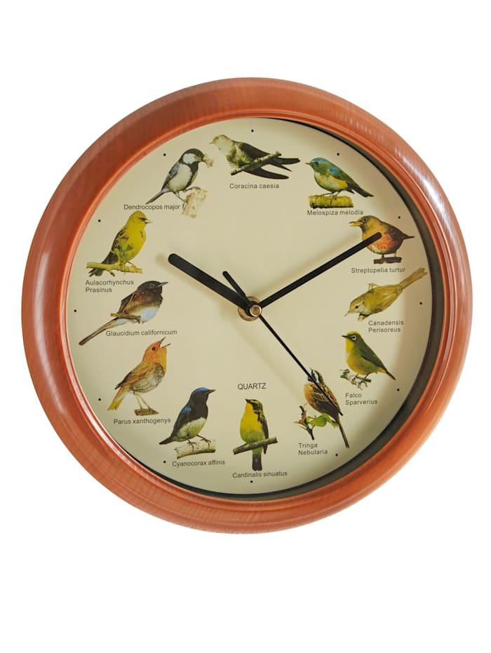 GD Import Wandklok Vogelgeluiden, multicolor