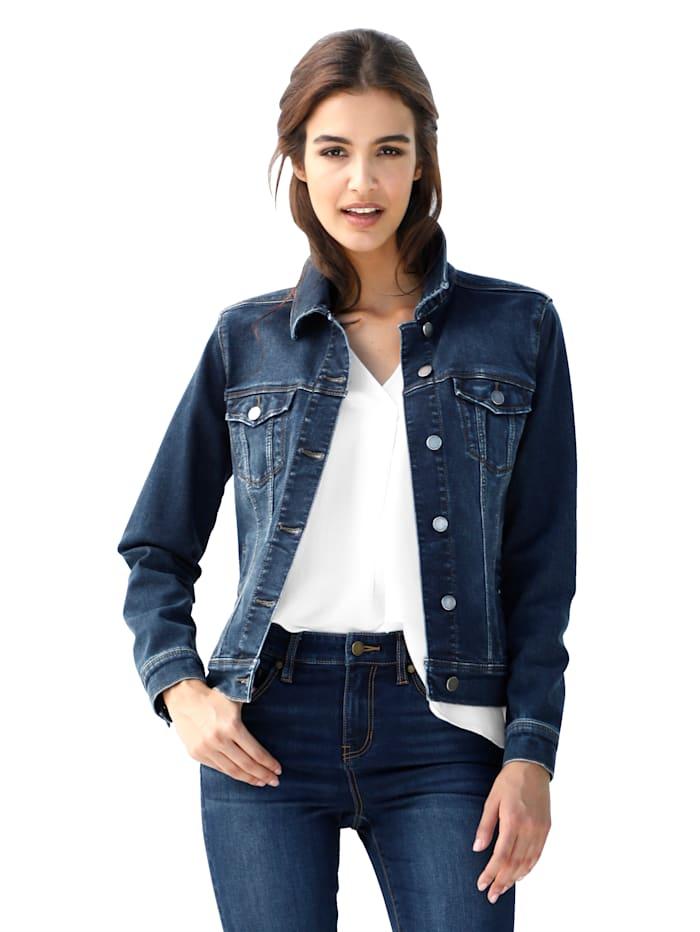 Liverpool Jeansjacke in klassischer Form, Blue bleached