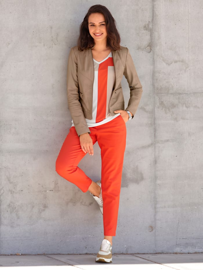 AMY VERMONT Chinohose in knalliger Farbe, Orange