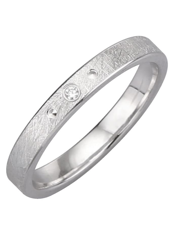 Harmony Trauring mit Diamant, Weiß