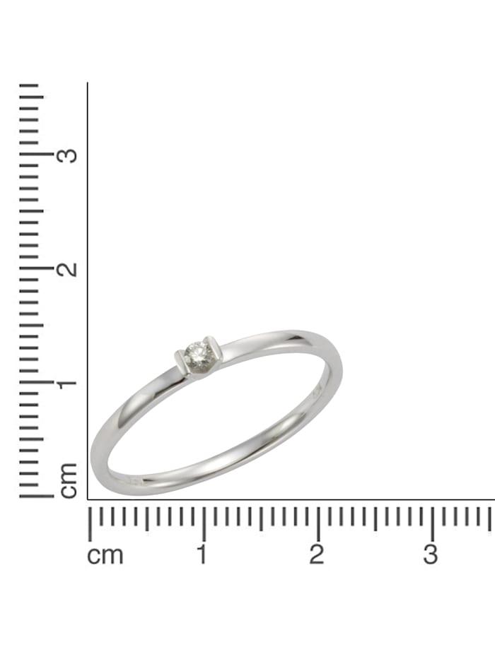 Ring 750/- Gold Brillant weiß Brillant Glänzend 0,04ct. 750/- Gold