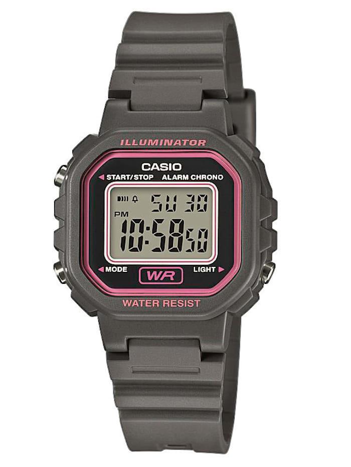 Casio Damen-Digital-Uhr Chronograph grau LA-20WH-8AEF, Grau