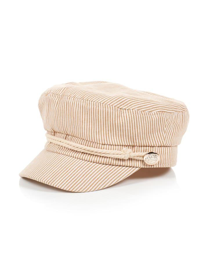SIENNA Baker Boy Mütze, Beige
