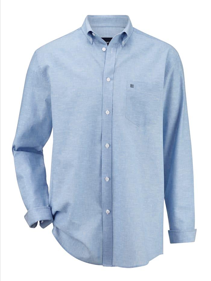 BABISTA Overhemd in licht gemêleerde look, Lichtblauw