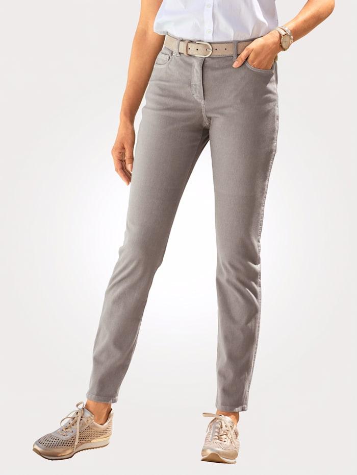 MONA Pantalon avec bandes fantaisie côtés, Taupe