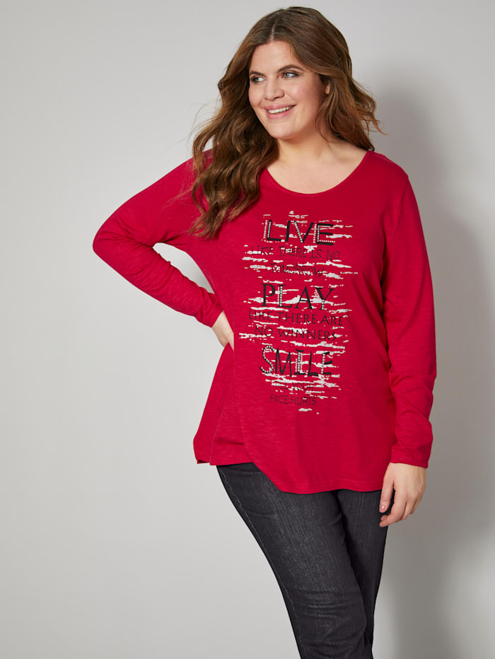 Janet & Joyce Shirt met trendy print, Rood