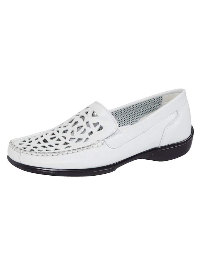 Naturläufer Loafers with cutout detailing, White