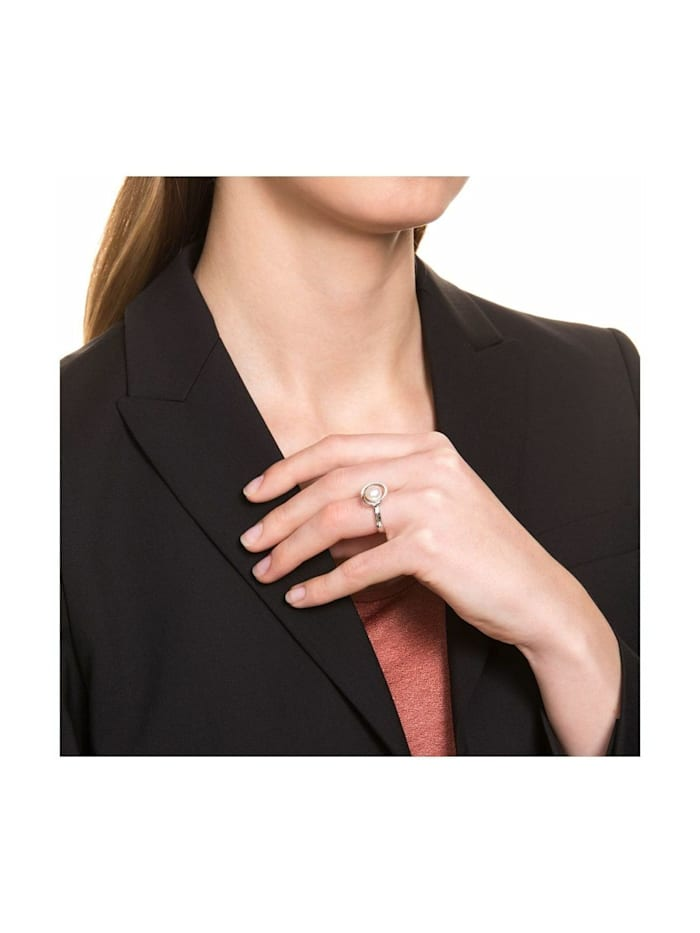 Ring für Damen, Sterling Silber 925, Süßwasserzuchtperle