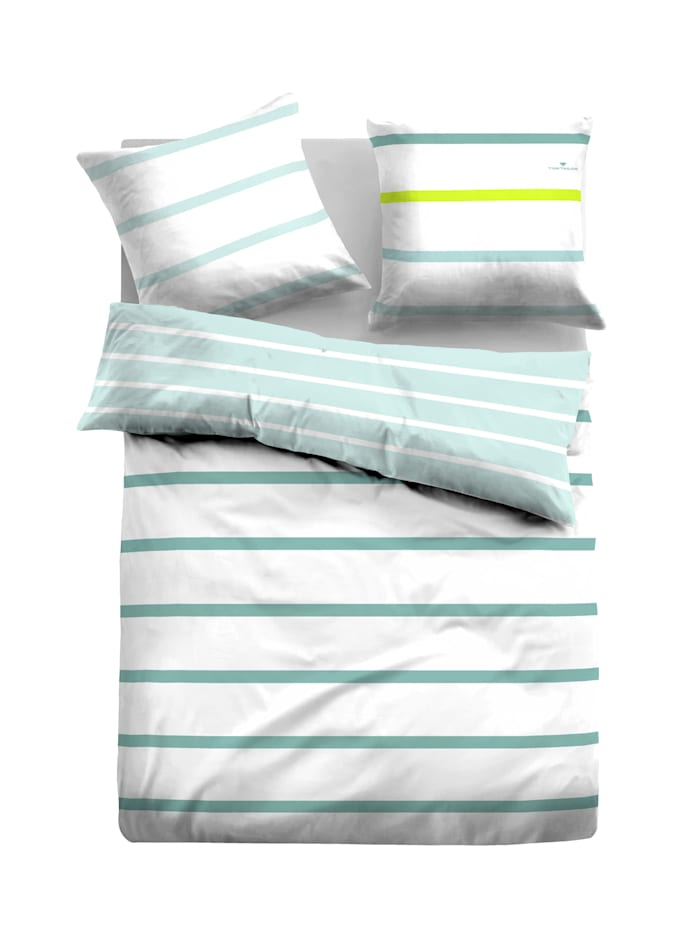 Tom Tailor Satin Bettwäsche 'Frieda', Mint