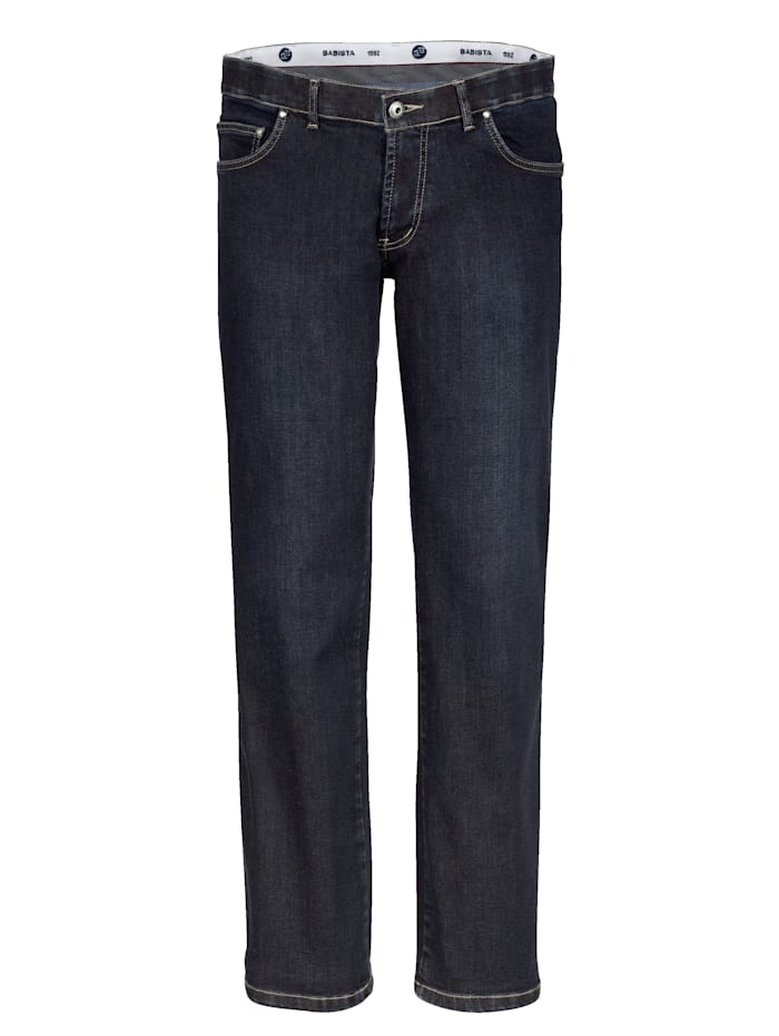 BABISTA Jeans met iets lagere band, Donkerblauw