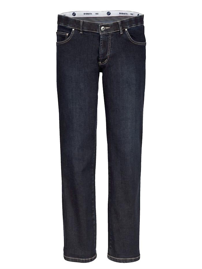 BABISTA Unterbauch-Jeans mit verkürzter Leibhöhe, Dunkelblau