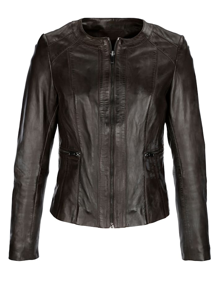 Leather jacket made from nappa leather