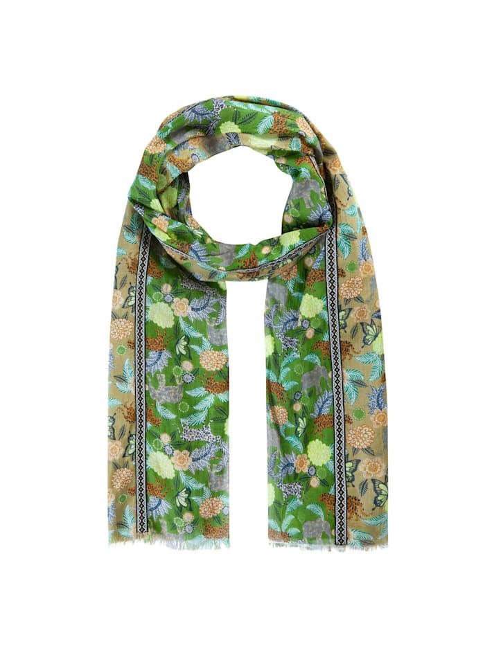 Codello Softer Safari-Schal aus feinster Baumwolle, olive