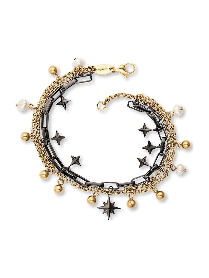 Engelsrufer Engelsrufer Damen-Armband Edelstahl, Perle, bicolor