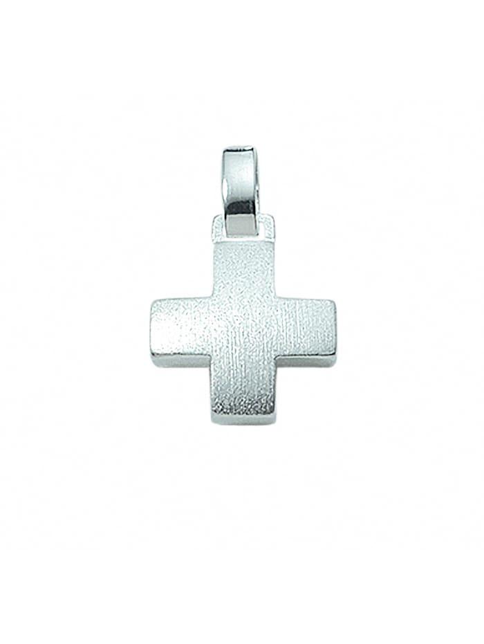 1001 Diamonds 1001 Diamonds Damen & Herren Silberschmuck 925 Silber Kreuz Anhänger, silber
