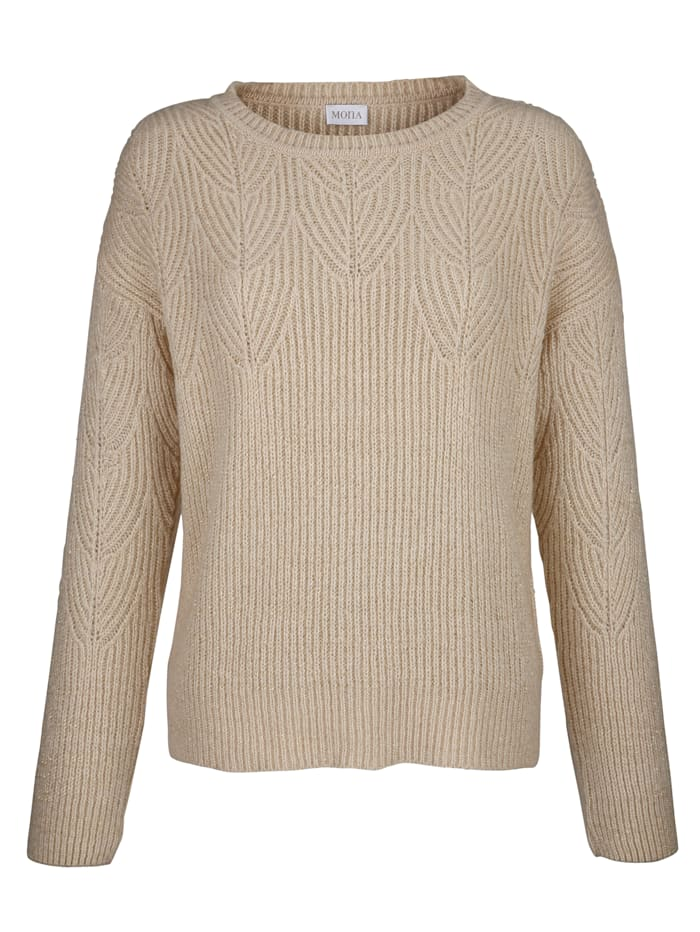 Jumper with interwoven shimmering thread
