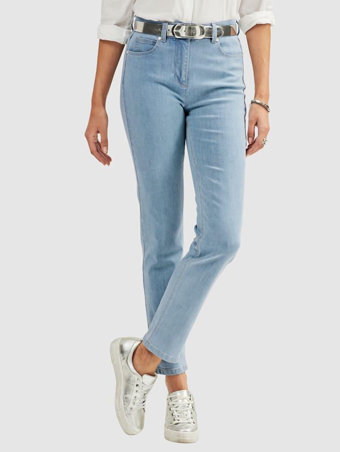 MONA Jeans in 5-pocketmodel, Lichtblauw