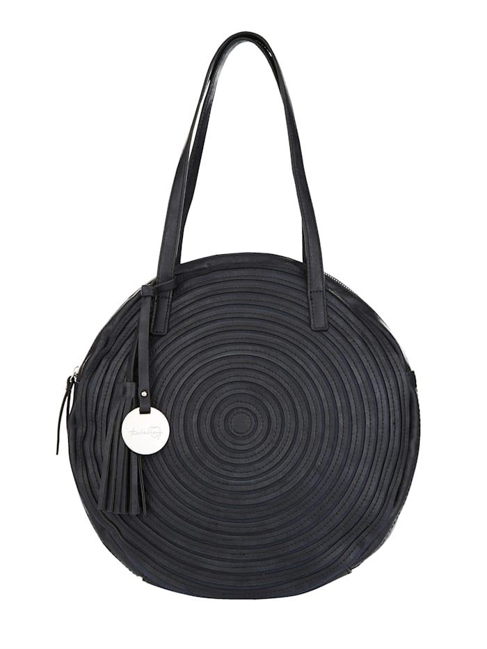 Taschenherz Handtasche in runder Formgebung, Dunkelblau