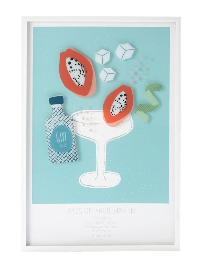 IMPRESSIONEN living Image encadrée, Martini, Multicolore