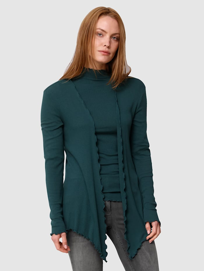 Laura Kent Shirtjacke in offener Form, Tannengrün