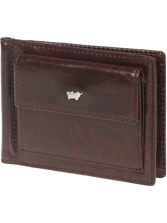 Braun Büffel Basic Dollarclipbörse IV Leder 12 cm, palisandro