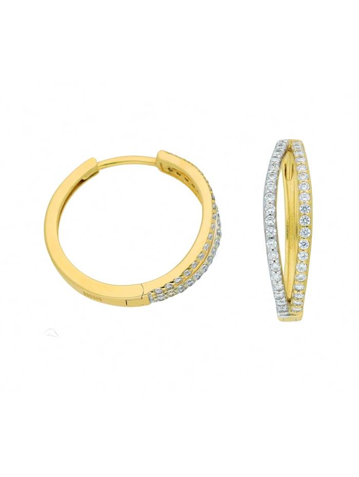1001 Diamonds 1001 Diamonds Damen Goldschmuck 333 Gold Ohrringe / Creolen mit Zirkonia, gold