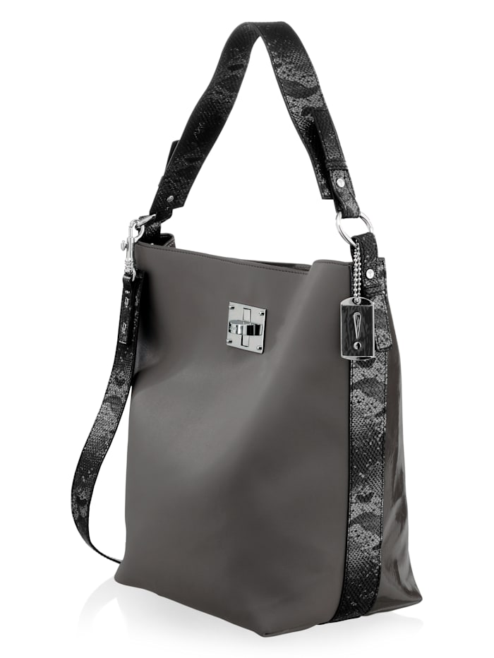 Tasche in Patch-Optik